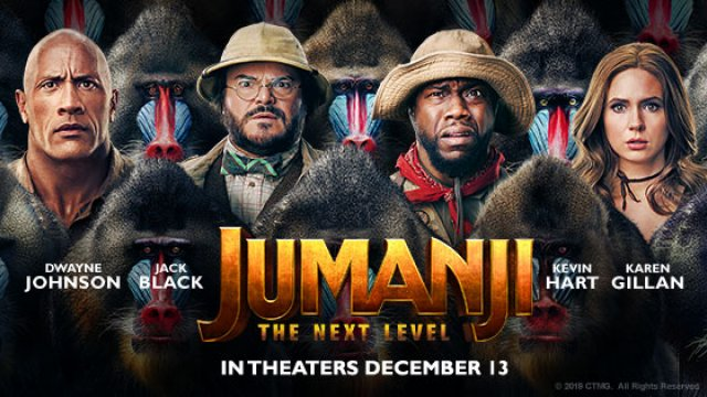 #JUMANJI: THE NEXT LEVEL, starts Thursday, December 12