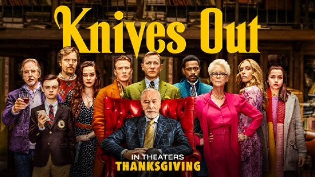 ''KNIVES OUT'' The investigation of the year arrives today. Now playing!
